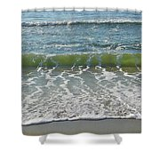 Waves At 7 Am Shower Curtain