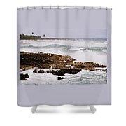 Waves Pounding Costa Maya, Mexico Shower Curtain