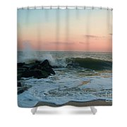 Waves At The Point West Cape May Nj Shower Curtain