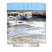 Waves At Tybee Shower Curtain
