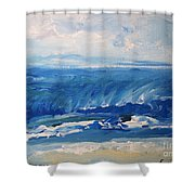 Waves At West Cape May Nj Shower Curtain