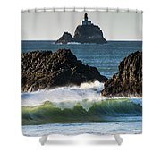Waves Breaking At Ecola State Park Shower Curtain