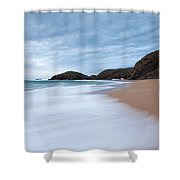 Waves Breaking At Murder Hole  County Shower Curtain