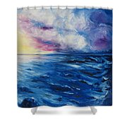 Waves Shower Curtain