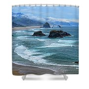 Waves Coming Ashore Shower Curtain