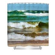 Waves Crash Shower Curtain