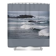 Powerful Waves Coming Ashore In San Juan # 1 Shower Curtain