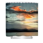 Waves In The Clouds Shower Curtain