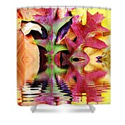 Waves Of Color Shower Curtain by Judy Palkimas