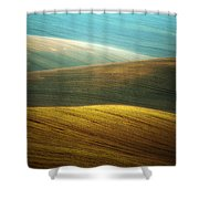 Waves Of Colours Shower Curtain