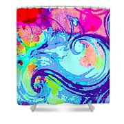 Waves Of His Love Shower Curtain
