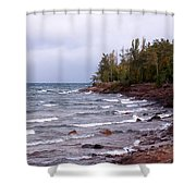 Waves Of Lake Superior Shower Curtain