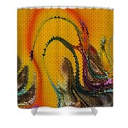 Waves Of Music Shower Curtain