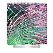 Waves Of Palm Shower Curtain