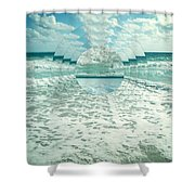 Waves Of Reflection Shower Curtain