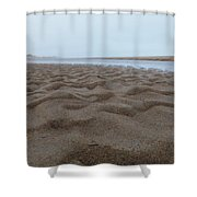 Waves Of Sand Shower Curtain