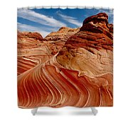 Waves Of Time Shower Curtain