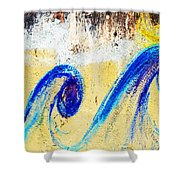 Waves On A Wall Shower Curtain