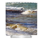 Waves - Wind - Fury Of The Sea Shower Curtain