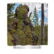 Waving Rock At Yellowstone Shower Curtain