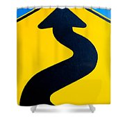 Wavy Arrow Concept Of Winding Road To Success Shower Curtain