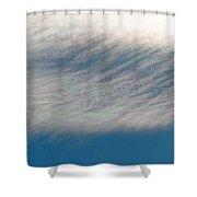 Wavy Iridescent Clouds Shower Curtain