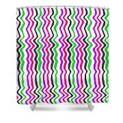 Wavy Stripe Shower Curtain