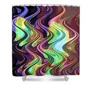 Wavy Shower Curtain