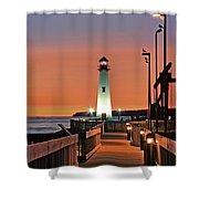 Wawatam Lighthouse Sunrise Shower Curtain