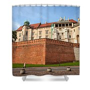Wawel Royal Castle In Krakow Shower Curtain