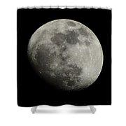 Waxing Gibbous Moon Shower Curtain