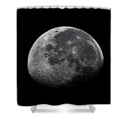 Waxing Moon Shower Curtain by Nila Newsom