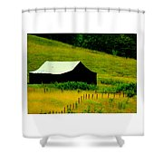 Way Back When Shower Curtain by Karen Wiles