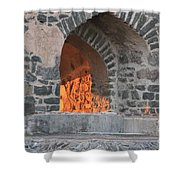 Way To The Fireplace Shower Curtain