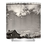 Way Up In The Clouds Shower Curtain
