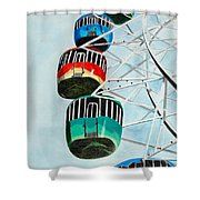 Way Up In The Sky Shower Curtain