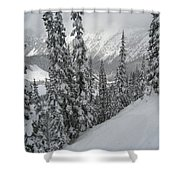 Way Up On The Mountain Shower Curtain