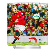 Wayne Rooney Shower Curtain