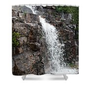 Wayside Waterfall I - Acadia Np Shower Curtain