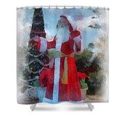 Wdw Santa Photo Art Shower Curtain