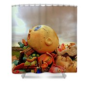 We Are Here Shower Curtain