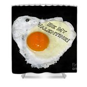 We Are Like Egg And Pepper. Be My Valentine Shower Curtain