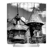 We Are Not In Kansas Anymore II Bw Shower Curtain