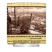 We Belong To Theearth Shower Curtain