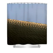 We Build Up Castles In The Sky And In The Sand. Shower Curtain