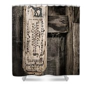 We Buy Old Horses - Vintage Thermometer Shower Curtain