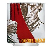 We Carry The Flag Of October Across The Centuries Shower Curtain