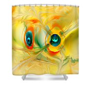 We Come In Peace Shower Curtain