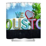 We Love Houston Texas Shower Curtain