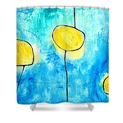 We Make A Family - Abstract Art By Sharon Cummings Shower Curtain